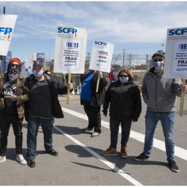 Dockworkers General Strike at the Port of Montreal